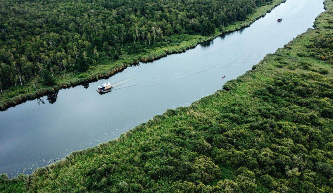Beim Schippern mit dem Hausboot über die Peene wähnt man sich auf dem Amazonas © TMV/Gänsicke