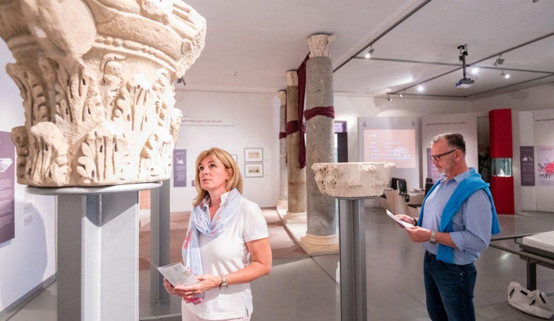 Wie sah die Burg von Karl dem Großen damals aus? Im Museum bei der Kaiserpfalz kann man das anhand von Exponaten und Modellen nachvollziehen