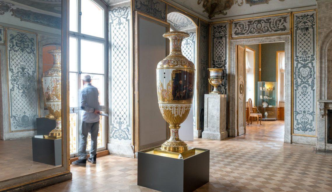 Wertvolle Vasen auf Schloss Belvedere © Gregor Lengler / Thüringer Tourismus GmbH