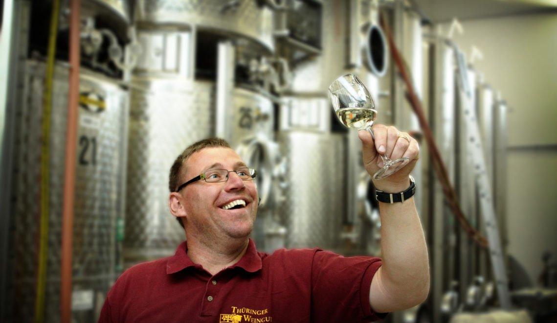 André Zahn ist zuständig für die Herstellung und Lagerung der Weine © Peter Hansen / Thüringer Tourismus GmbH