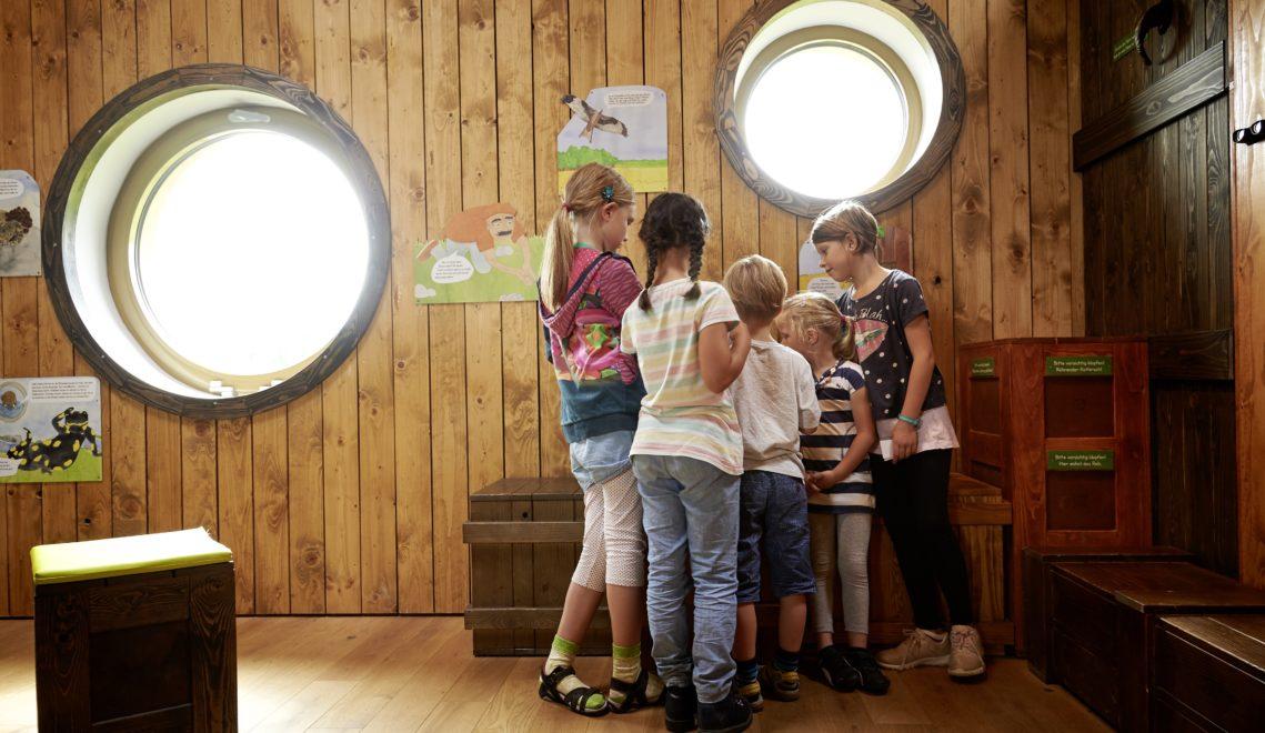 Im Besucherzentrum Arche Rhön können kleine Gäste viele Rätsel lösen © Samuel Zuder / Thüringer Tourismus GmbH