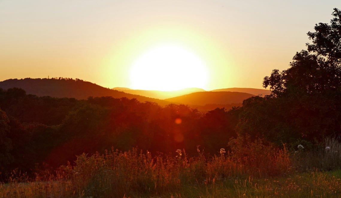 Sonnenuntergang auf der Hohen Geba © Christiane Würtenberger / CMR
