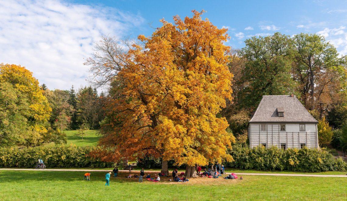 Eine Zeit lang wohnt der berühmte Dichter in diesem Gartenhaus im Park © Gregor Lengler / Thüringer Tourismus GmbH