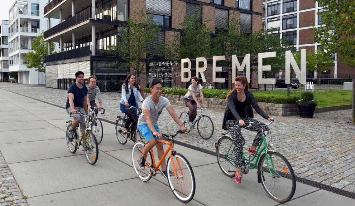 Bremen lässt sich gut mit dem Fahrrad erkunden © WFB/Ingo Wagner