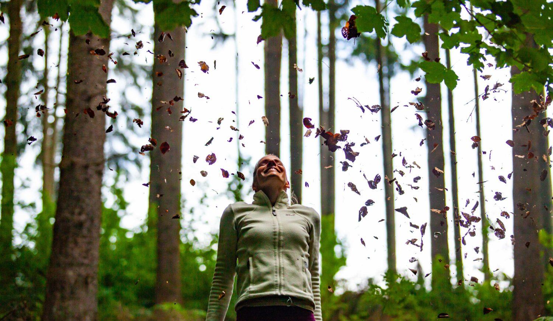 Waldbaden ist Waldatmen. Tut richtig gut! © Tourismus NRW e.V.