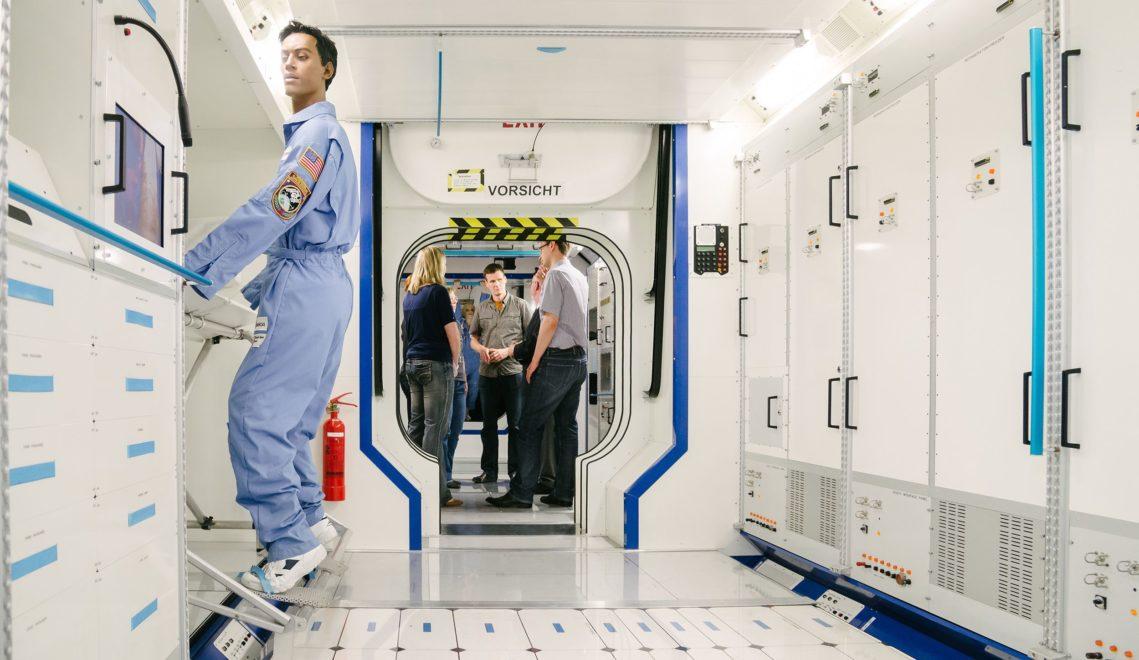 Bei Airbus erleben Gäste das 1:1-Modell eines Weltraumlabors © WFB/Jonas Ginter