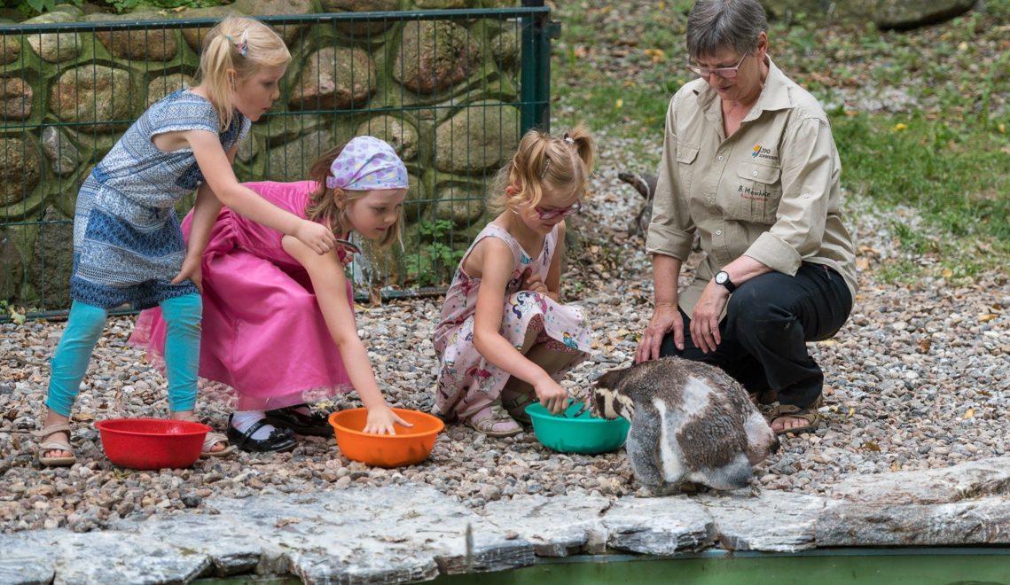 Lernen und spielen beim Kindergeburtstag im Zoo © Erhard Heiden