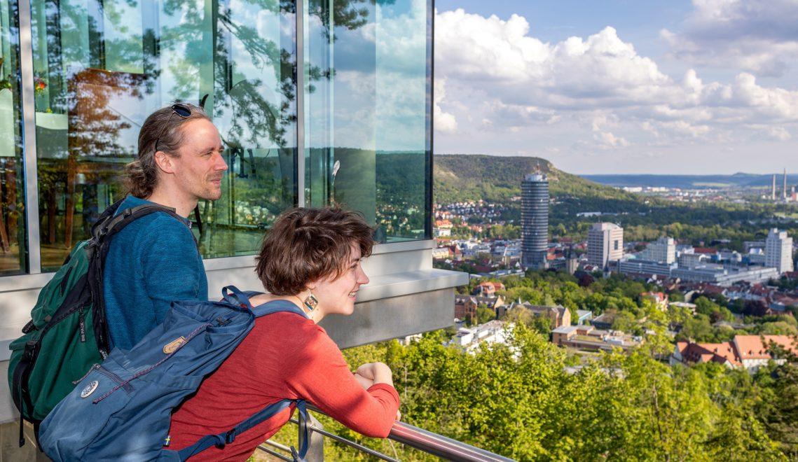 Blick über Jena vom Landgrafen im Nordwesten der Universitätsstadt © JenaKultur, Foto: Roman Möbius