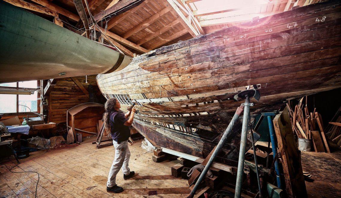 In der Werft von 1889 werden heute wieder Boote auf traditionelle Art gebaut © TMV/pocha.de