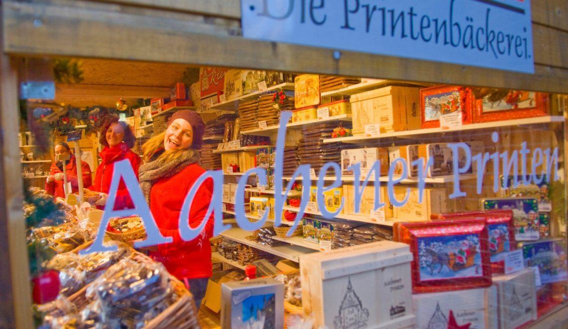 Die Aachener Printen sind eine Art Lebkuchen und ein Wahrzeichen des Weihnachtsmarktes in Aachen © Oliver Franke, Tourismus NRW e.V.