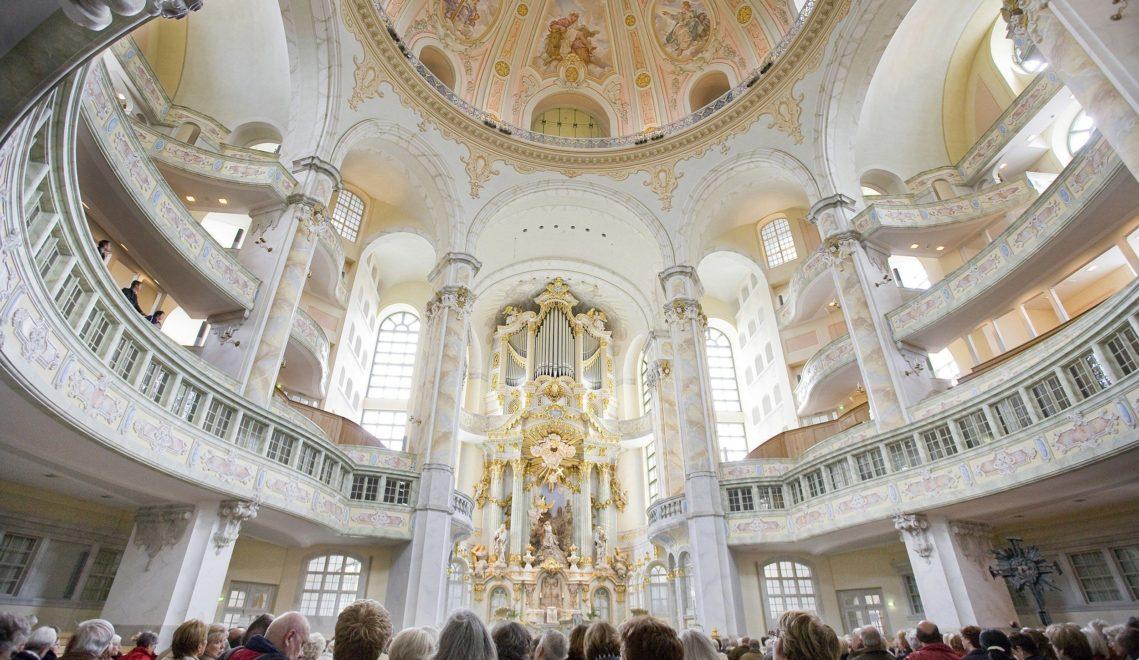 Seit 2005 strahlt die Dresdner Frauenkirche in neuem, barocken Glanz © Katja Fouad Vollmer