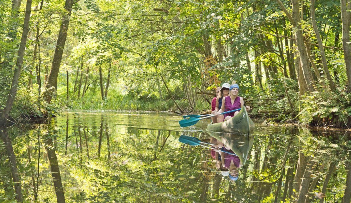 Bei einer viertägigen Tour kann man das landschaftlich spannende Gebiet der Havelquelle mit dem Kanu erkunden © Christin Drühl