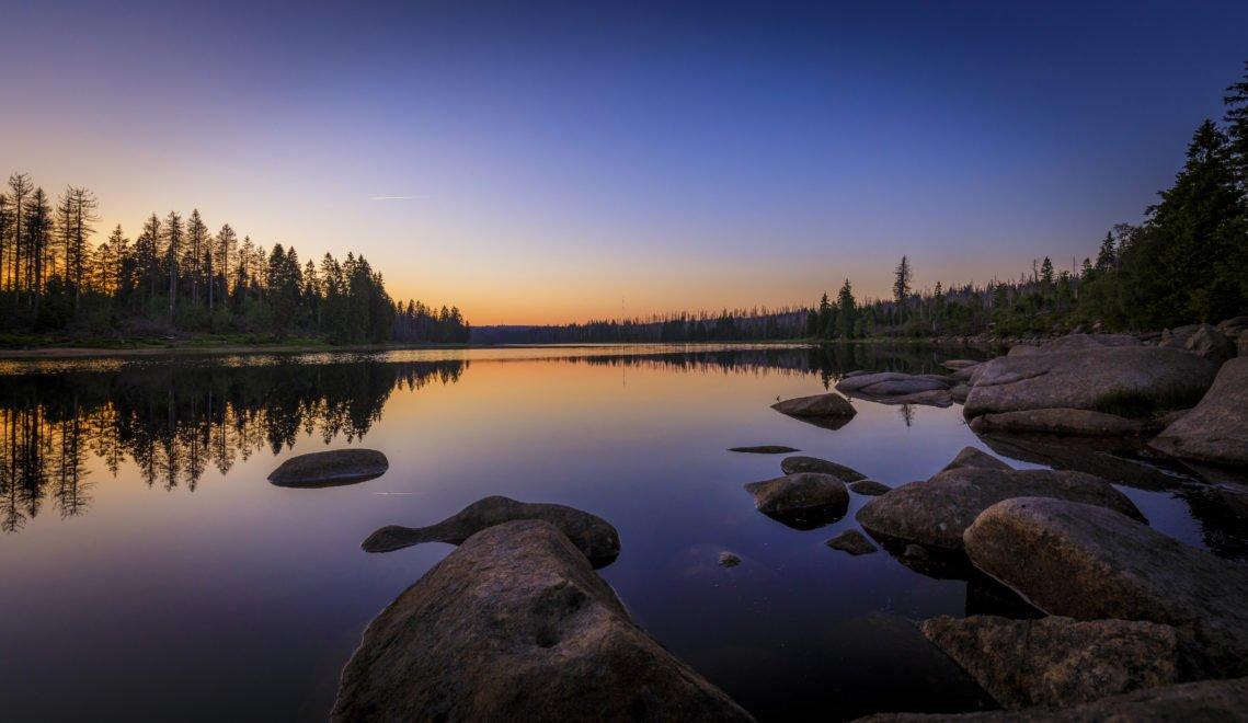 Mythisch: Der Oderteich in der Abenddämmerung © TMN - Lars Gerhardts