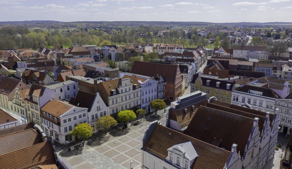 Blick über den Marktplatz von Güstrow