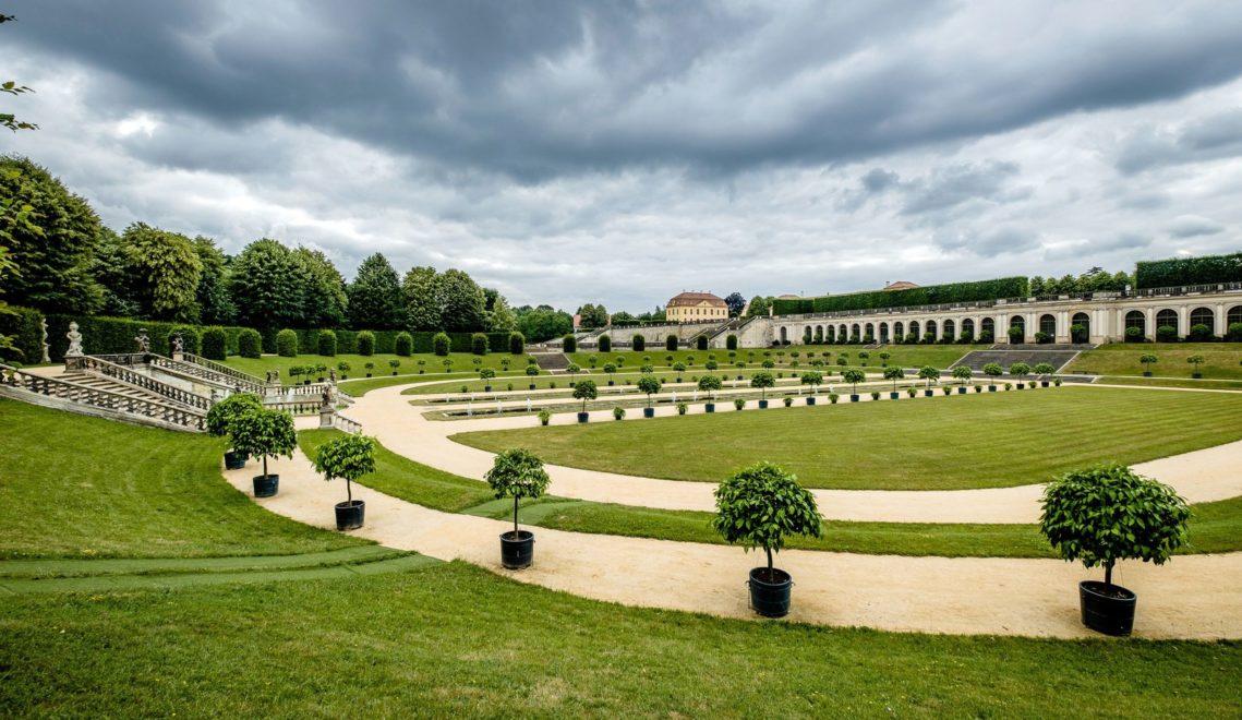 Weitläufiges Rund im Barockgarten Großsedlitz © Franco Cogoli