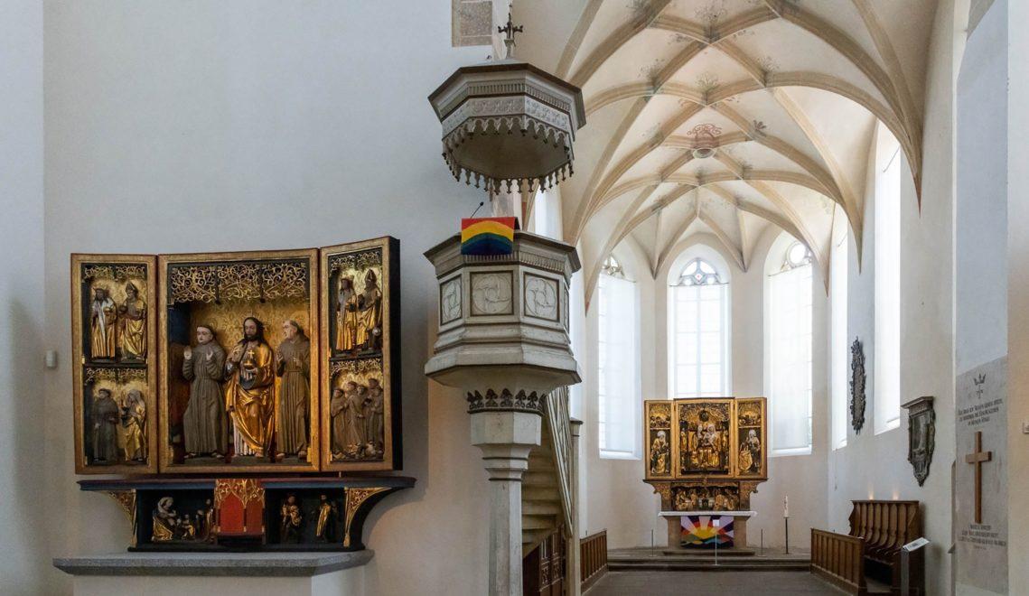 Mehrere spätgotische Flügelaltäre stehen in der Klosterkirche St. Annen in Kamenz – ungewöhnlich für eine evangelische Kirche © Andreas Krone