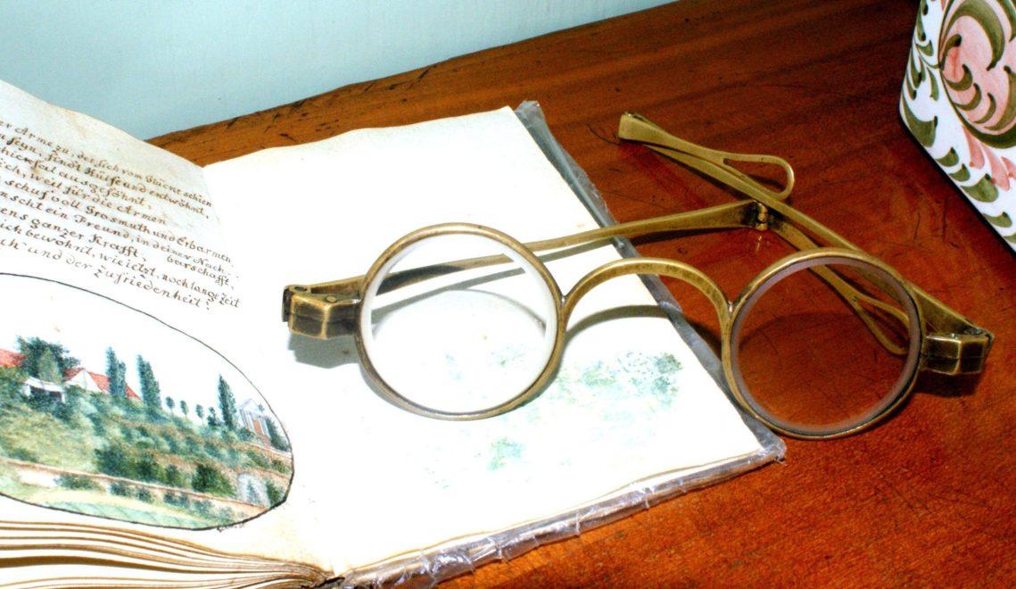 Die Brille des 1828 verstorbenen Goetheverlegers Georg Joachim Göschen © Stadt Grimma