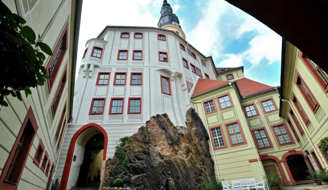 Blick in den Innenhof von Schloss Weesenstein © Kristin Schmidt