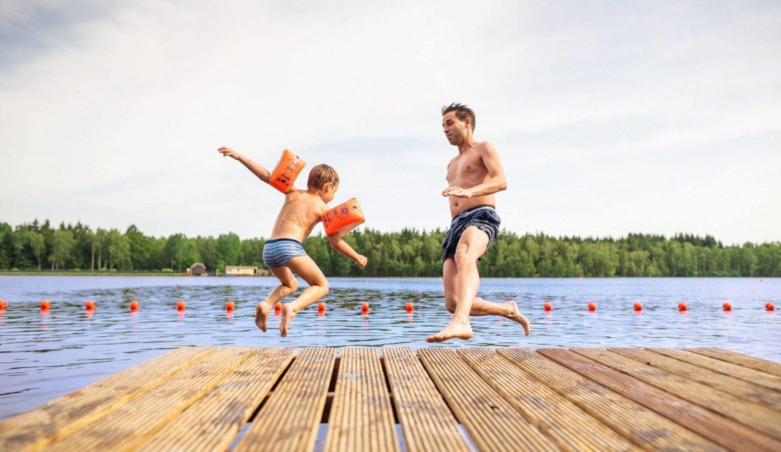 Der perfekte Sommertag in Sachsen – rein ins Wasser! © Thomas Schlorke
