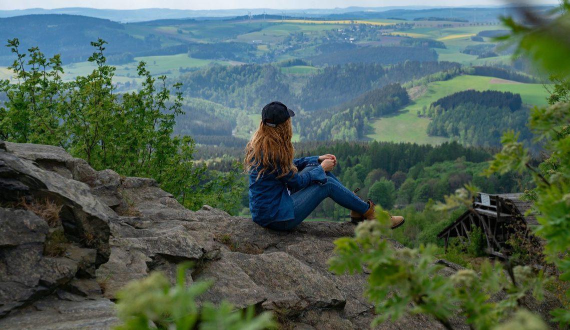 Von den Höhen des Erzgebirges aus habt ihr eine fabelhafte Sicht ©Thorsten Günthert