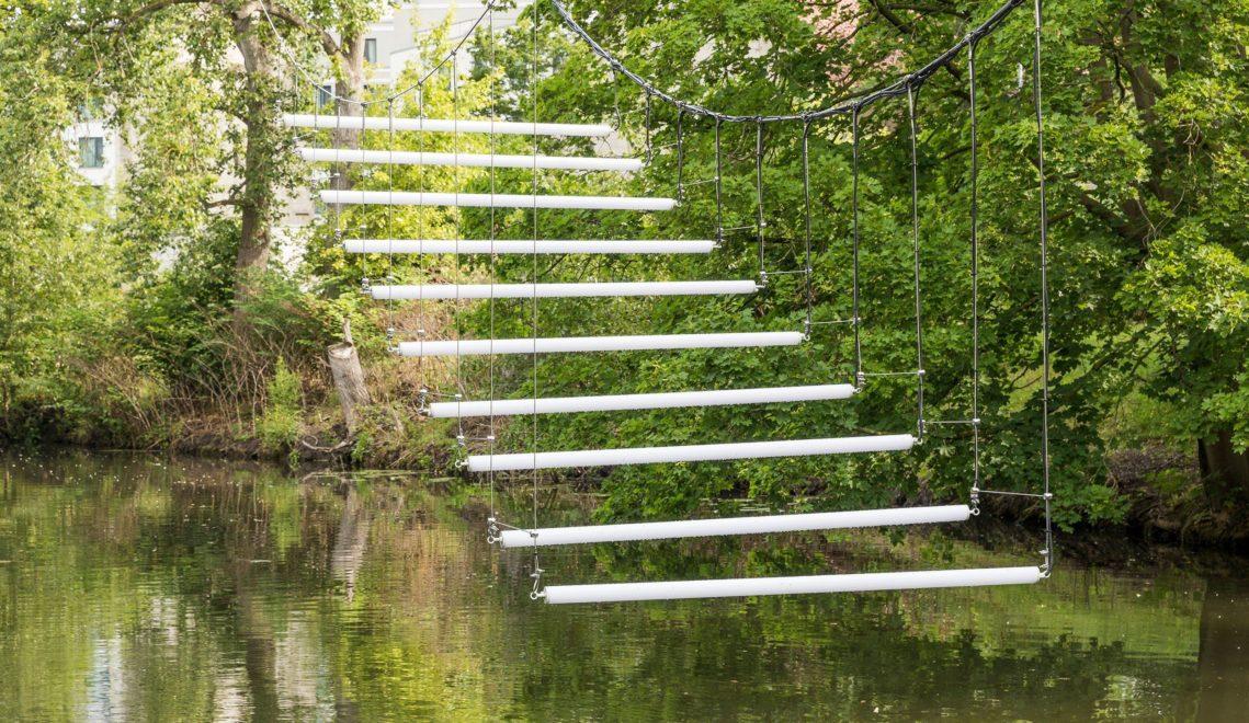 Ein Treppe aus dem Nichts – Light Steps 1990/2020 von Brigitte Kowanz © Stadt Braunschweig/Daniela Nielsen