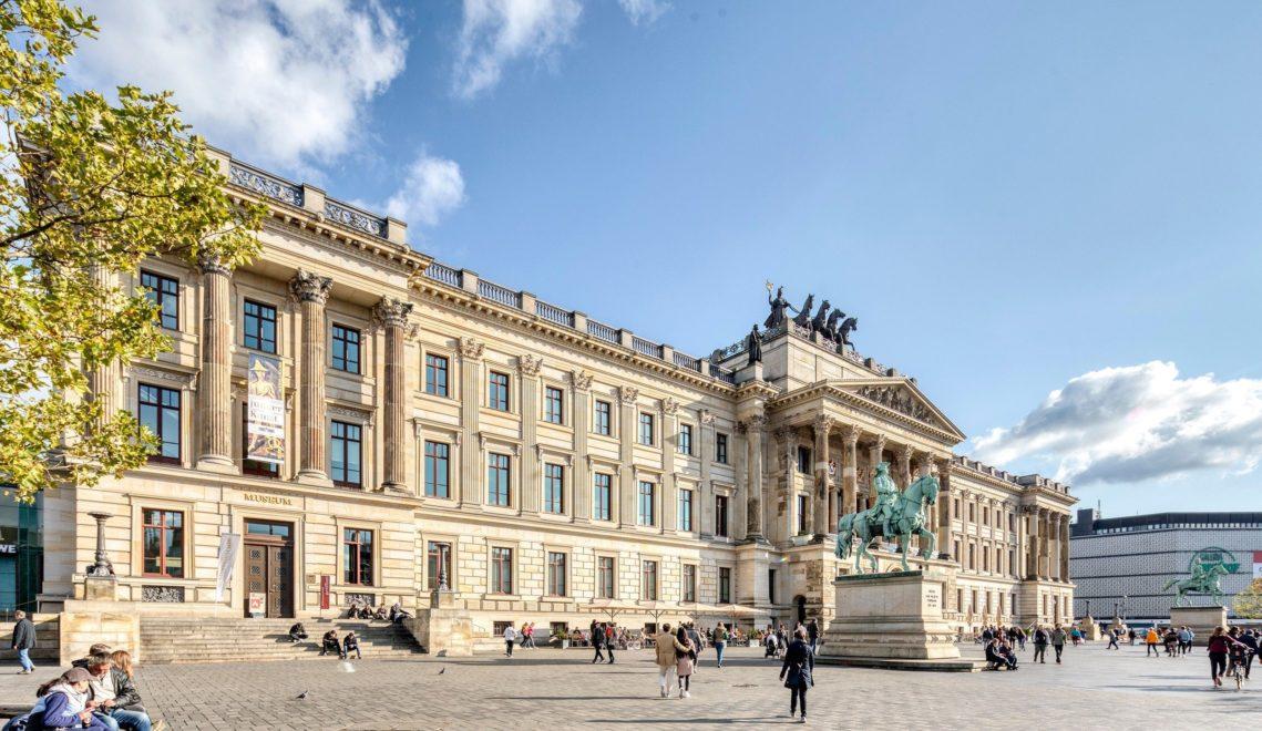 Vereint historischen Bau und Einkaufszentrum: das Braunschweiger Schloss © cc-by-nd: Braunschweig