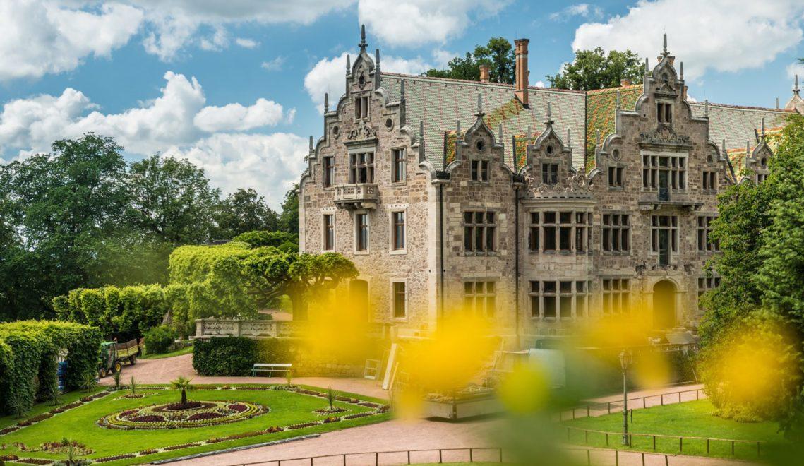 Hübsch anzusehen, aber gerade nicht besuchbar: Das Schloss Altenstein wird zur Zeit renoviert © Dominik Ketz