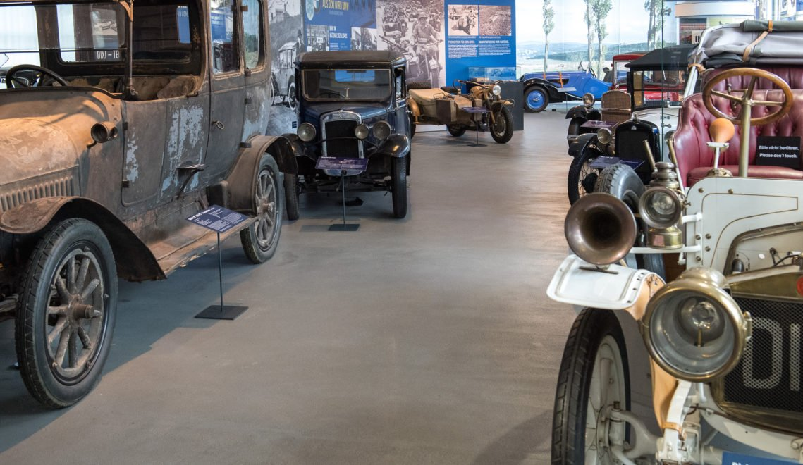 Alte Autos in der automobile welt eisenach
