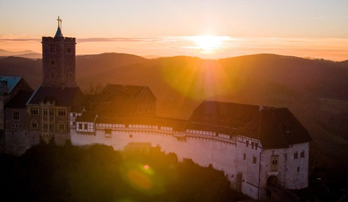 Wartburg im Sonnenuntergang
