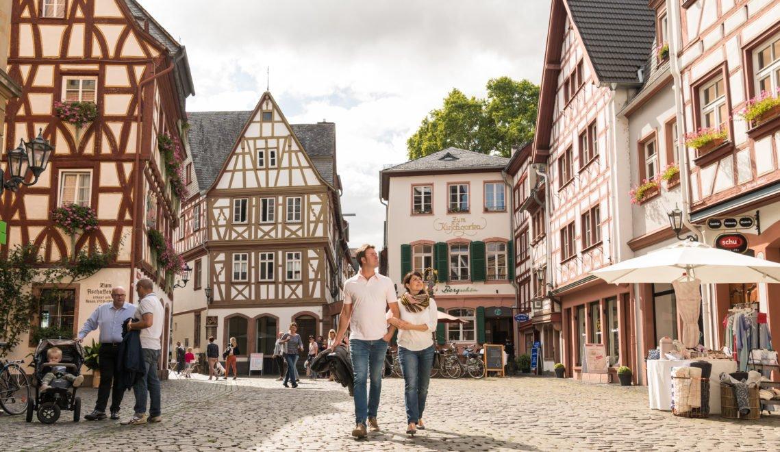 Die Mainzer Altstadt ist ein schmuckes Ensemble historischer Fachwerkhäuser