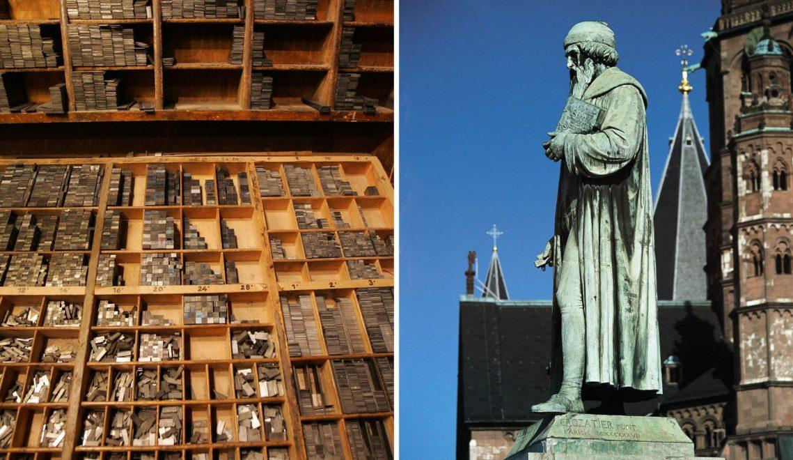 Johannes Gutenberg ist der wohl berühmteste Mainzer, mit seiner Erfindung gilt er heute als Großvater des Internets © Landeshauptstadt Mainz + Otto Meyfeldt_Rheinhessenwein e.V.