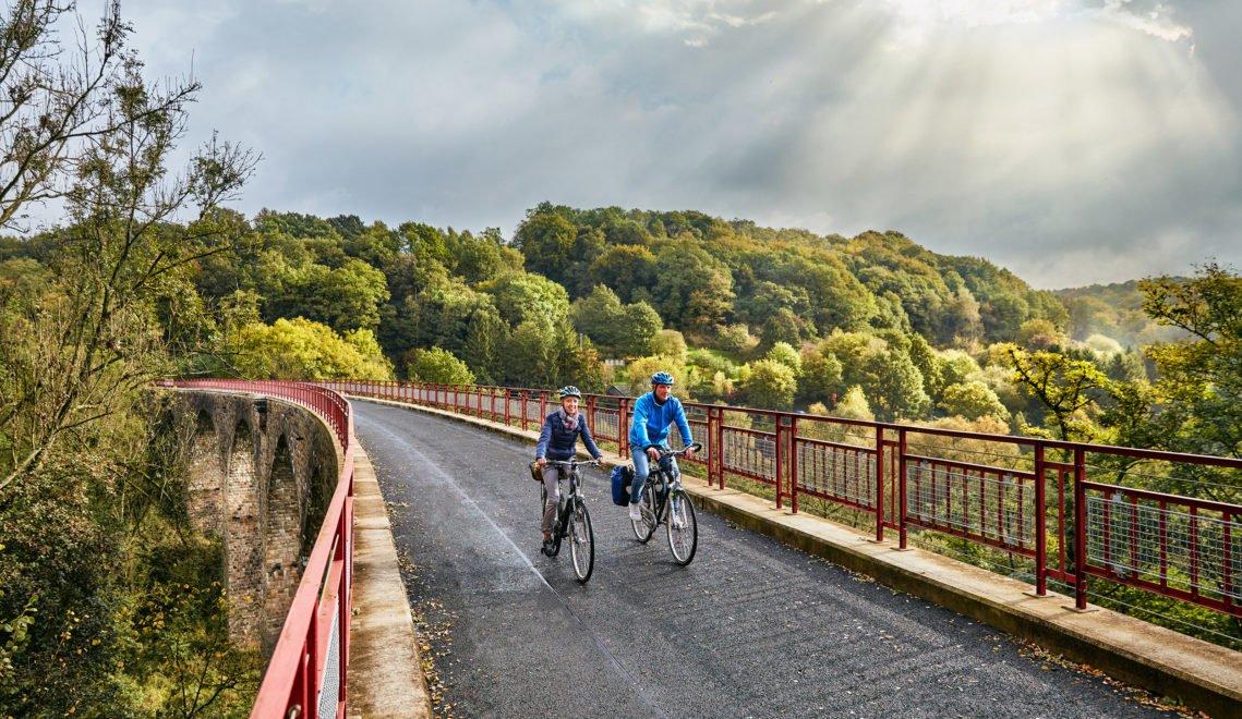 Der PanoramaRadweg Niederbergbahn macht seinem Namen alle Ehre © BSW, Gawandtka
