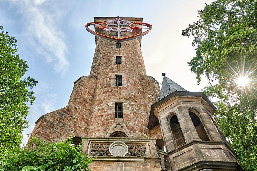 Der Kaiser-Wilhelm-Turm, im Volksmund auch Spiegelslustturm genannt, wurde Ende des 19. Jahrhunderts erbaut