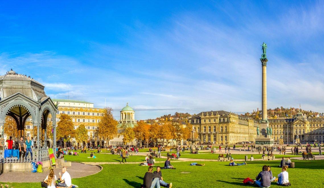 Der Stuttgarter Schlossplatz