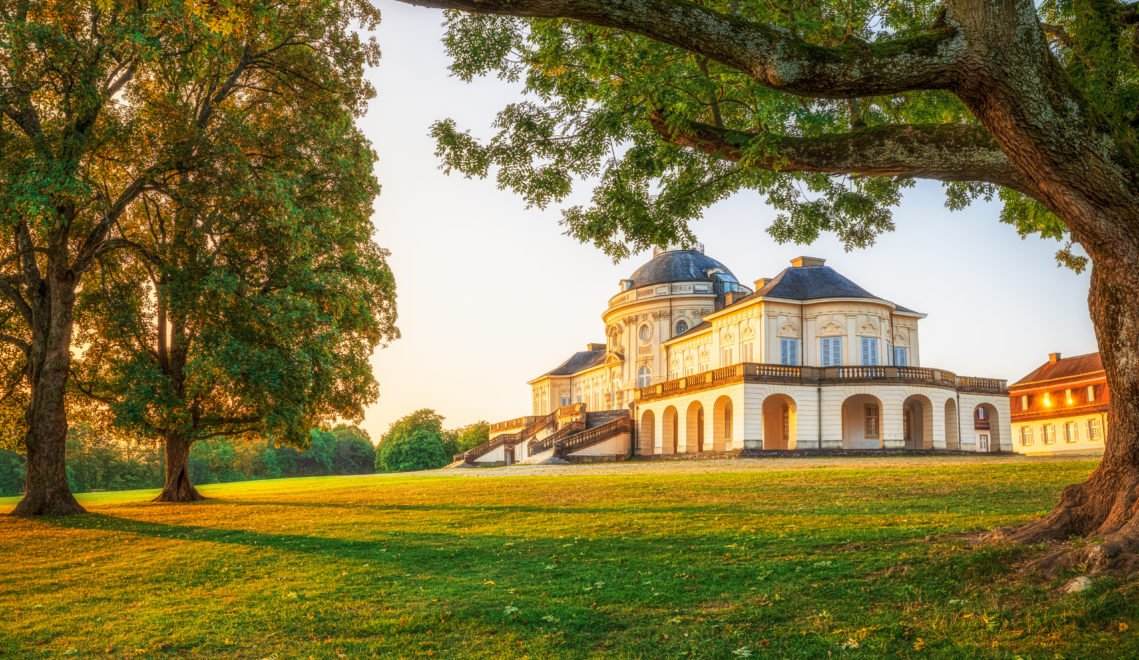 Schloss Solitude im Sonnenaufgang_Stuttgart