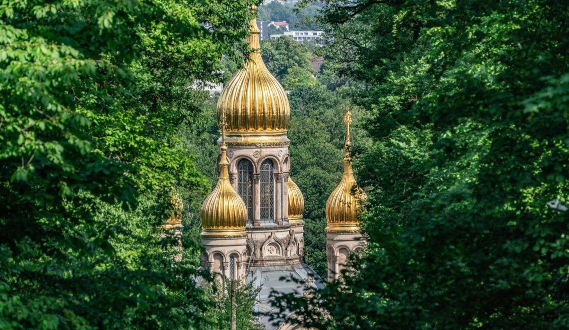 Lohnt auf jeden Fall einen Besuch – die russisch-orthodoxe Kirche in Wiesbaden