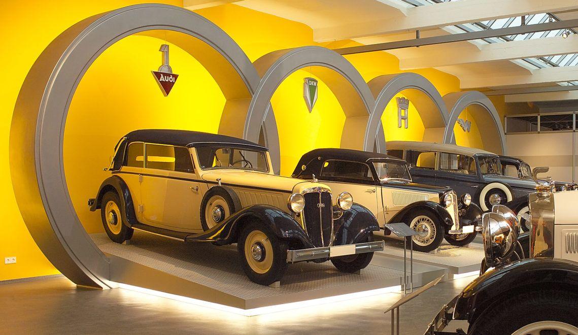 Im August Horch Museum sind einige echte Prachtstücke der Zwickauer Automobilbaukunst ausgestellt © August Horch Museum
