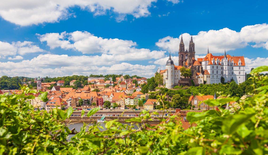 Schöner Blick auf die Albrechtsburg, den ältesten Schlossbau Deutschlands