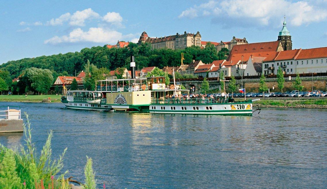 """Die """"Weiße Flotte"""" verbindet Pirna mit Dresden und der Sächsischen Schweiz"""