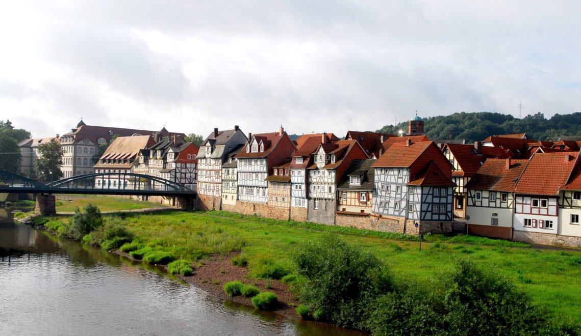 Fachwerkbauten an der Fulda
