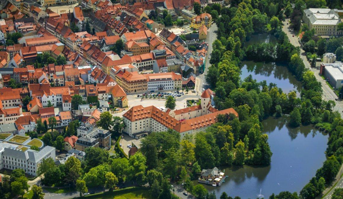 Schloss Freudenstein liegt am Rande der Freiberger Altstadt